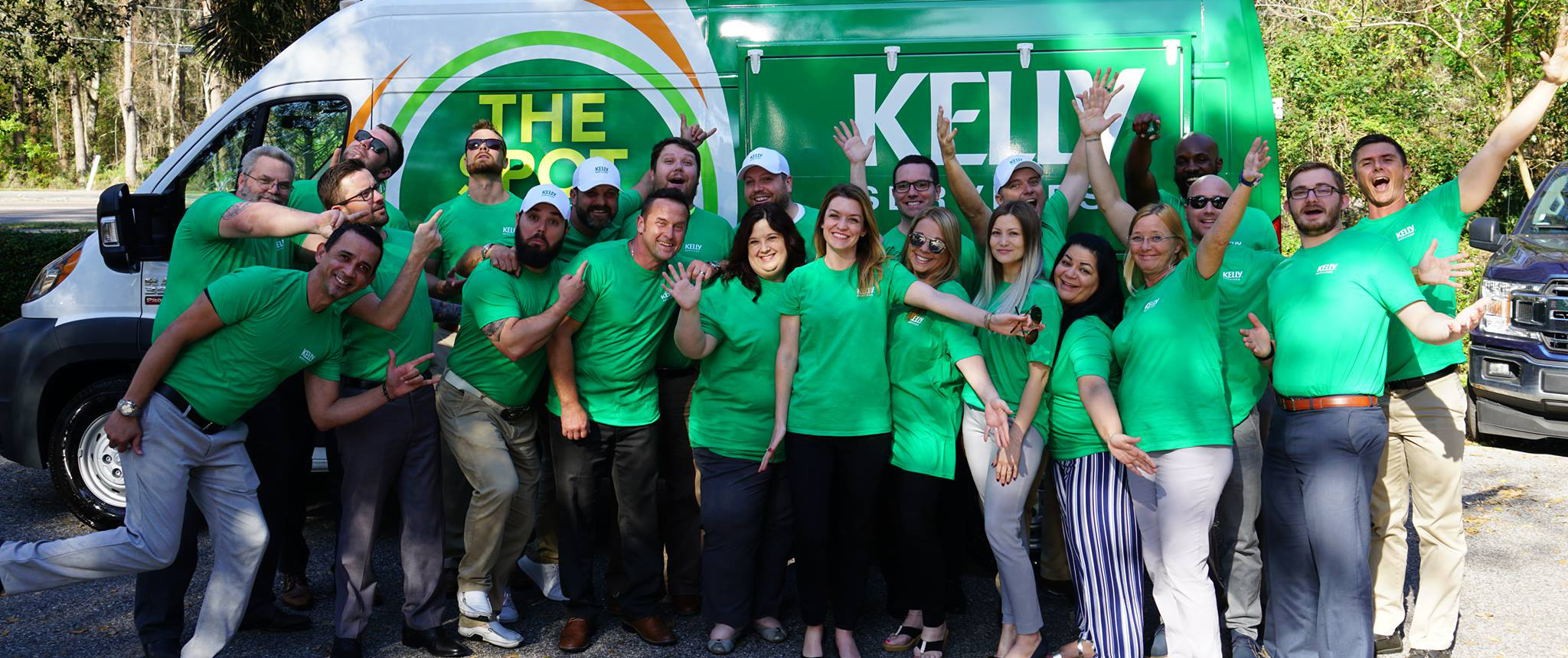 Group photo of Kelly Services employees