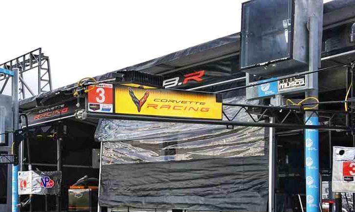 corvette racing sign